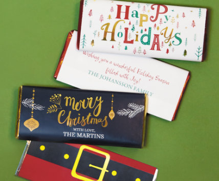Shop Personalized Holiday Chocolate Bars