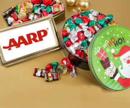 Shop Holiday Candy Filled Tins