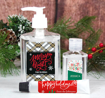 Personalized Holiday Hand Sanitizer