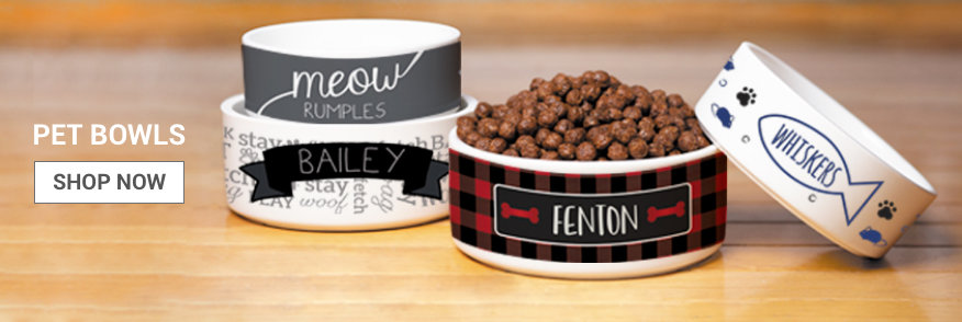 Personalized Dog and Cat Bowls