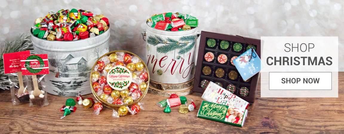 Personalized Holiday Candy Gifts and Favors