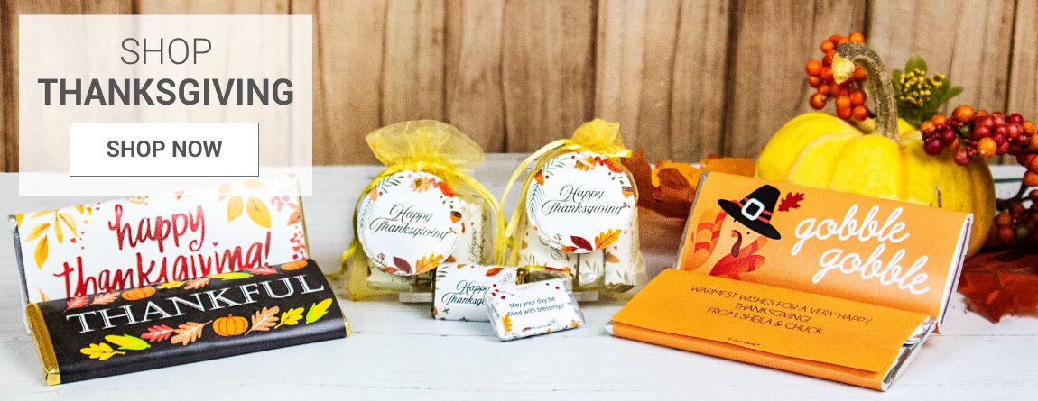 PERSONALIZED THANKSGIVING FAVORS AND GIFTS
