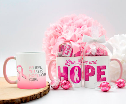 Personalized Breast Cancer Awareness Mugs