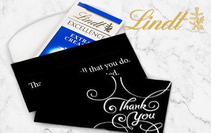 Lindt Chocolate bar in a gift box