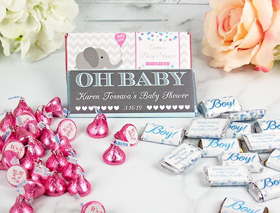 PERSONALIZED BABY CANDY FAVORS AND GIFTS