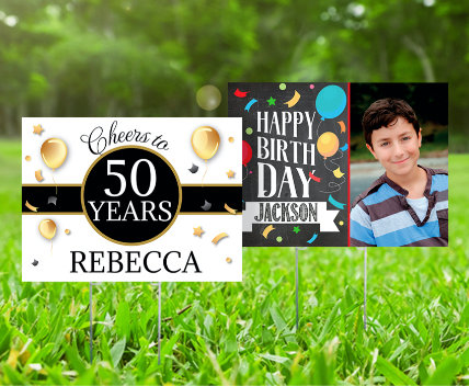 Personalized Birthday Lawn Signs & Banners