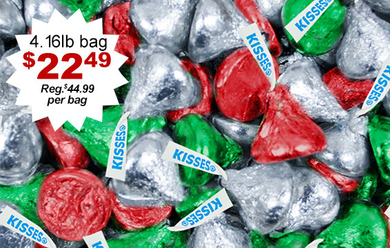 50% Off Holiday Hershey's Kisses