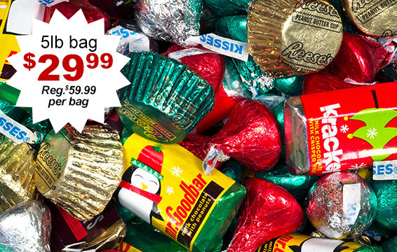 50% off Holiday Hershey's Mix