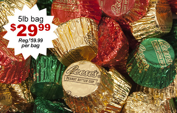 50% Off holiday Reese's