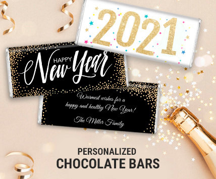 Personalized New Years Chocolate Bars