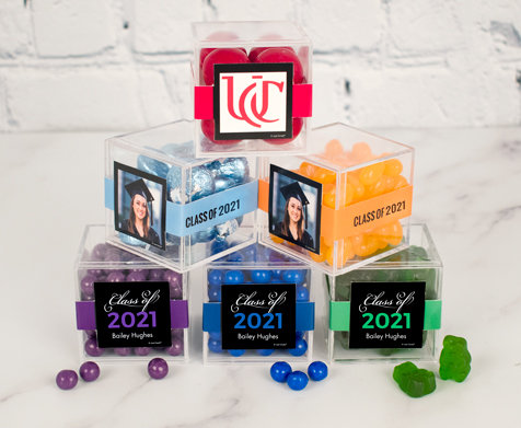 Personalized Graduation JustCandy® favor cubes