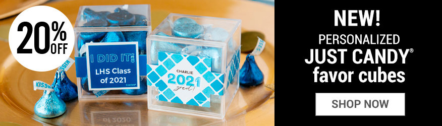 Shop Personalized Graduation Sweet Candy in a cube Favors