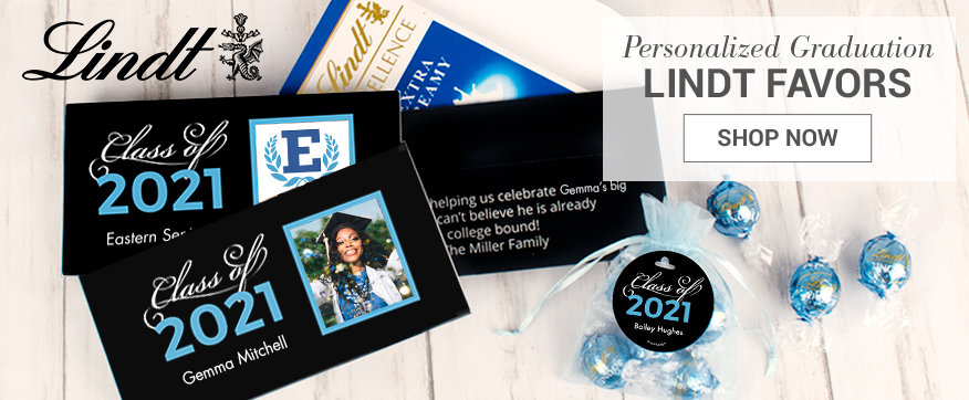 Personalized Baby Blue Lindt Boxes & Favors