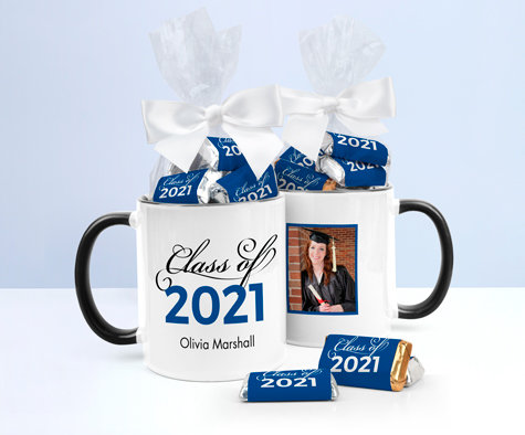 Personalized Blue Graduation Mugs