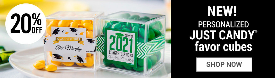 Shop Personalized Sweet Candy in a cube Favors