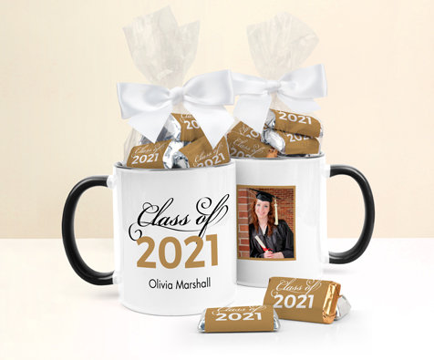 Personalized Gold Graduation Chocolate  Bars