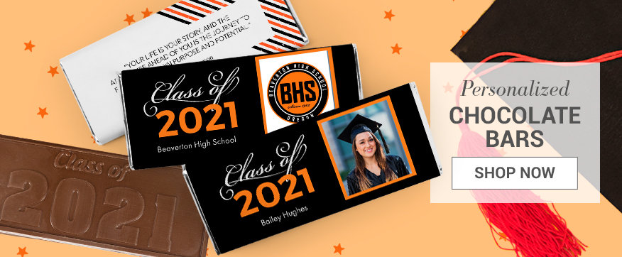 Orange Graduation Chocolate Bars