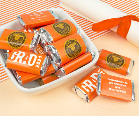 Orange Graduation Hershey's Miniatures