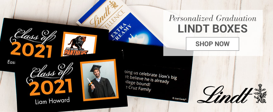 Personalized Orange Lindt Boxes and Favors