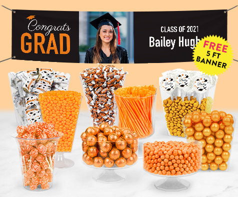 Orange Graduation Candy Bufftets