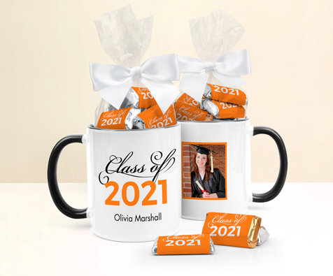 Personalized Orange Graduation Godiva Chocolate Bars