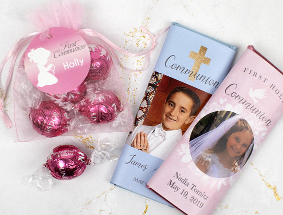 Personalized Communion Candy Favors