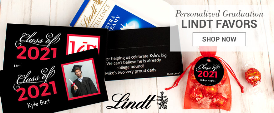 Personalized Red Lindt Boxes & Favors