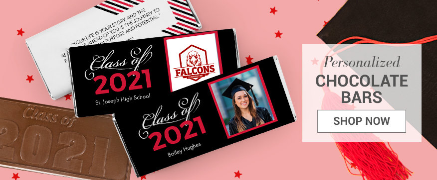 Red Graduation Chocolate Bars