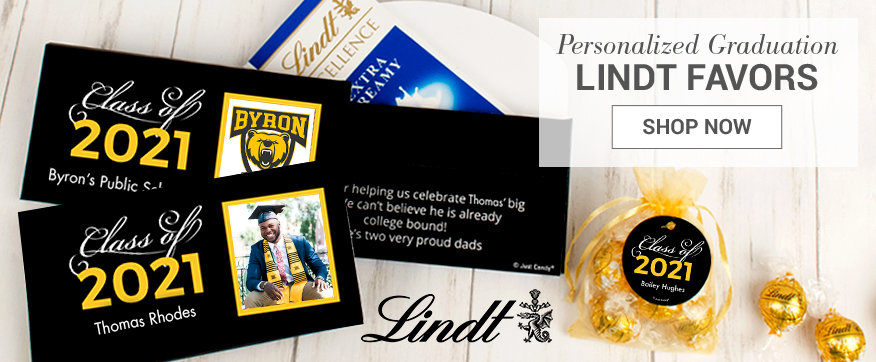 Personalized Yellow Lindt Boxes & Favors