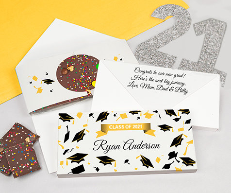 yellow grad gourmet infused chocolate bars
