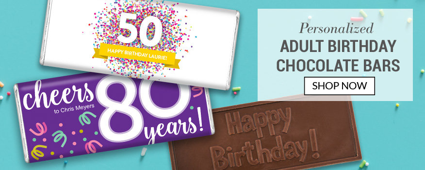 Adult Birthday Personalized Candy Favors and Gifts