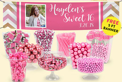 Personalized Sweet 16 Candy Buffets
