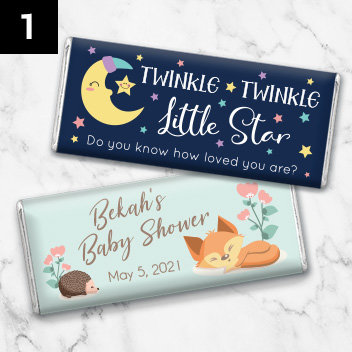 Personalized Baby Shower Candy Bars