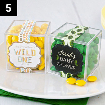 Personalized Baby Shower Favor Cubes