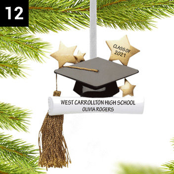 Personalized Grad Ornaments