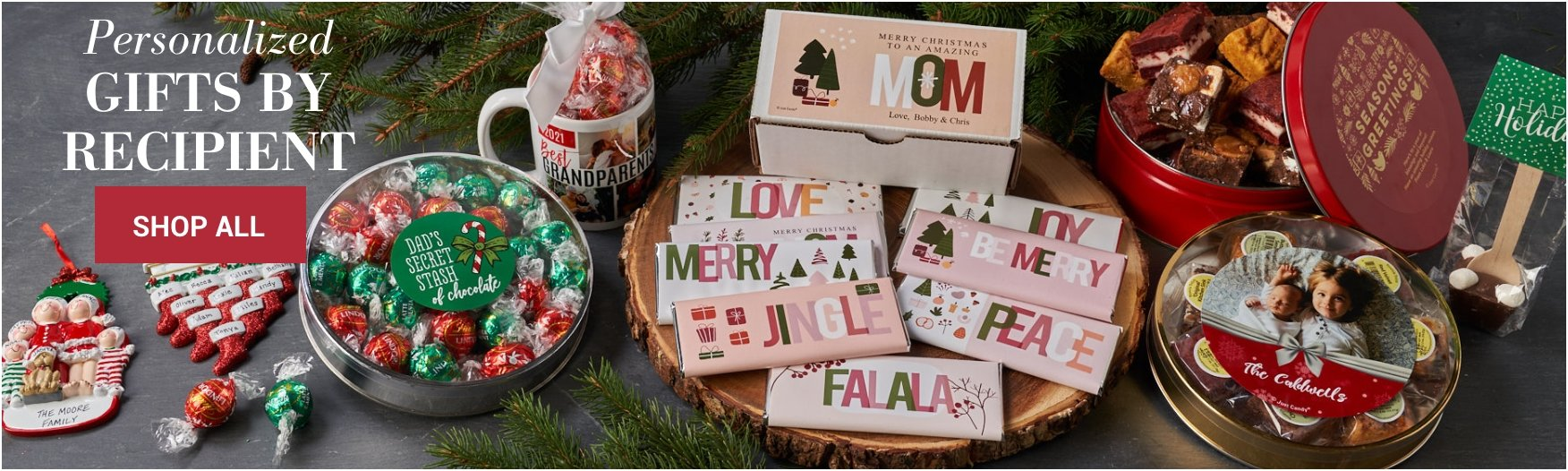 Shop Personalized Holiday Gifts by Recipients