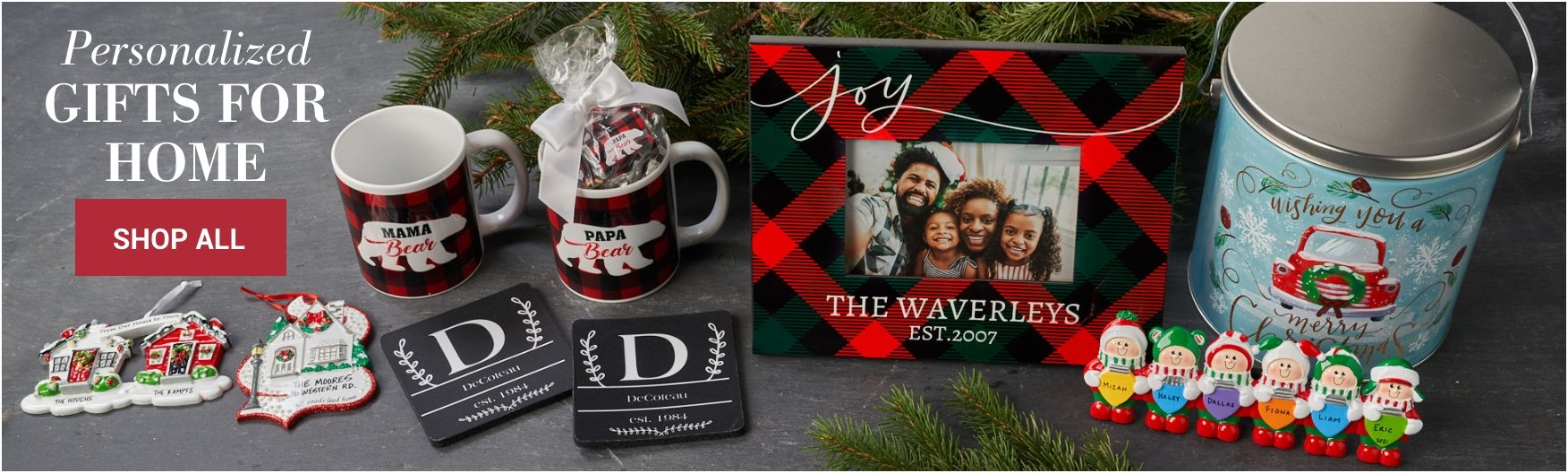 Shop Personalized Gifts for Home and Family