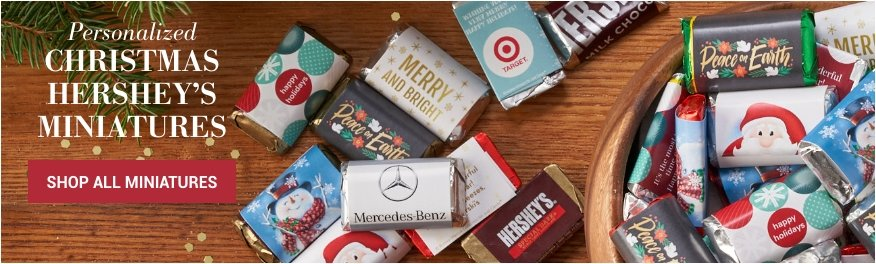 Personalized Christmas Hershey's Miniatures