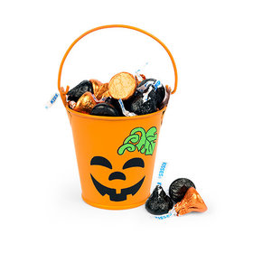 Pumpkin Smiles Pail with Hershey's Kisses