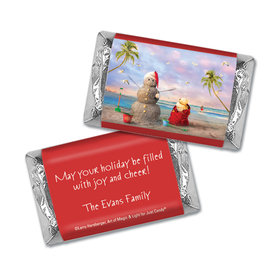 Personalized Mini Wrappers Only - Christmas Tropical Snowman
