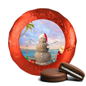 Christmas Chocolate Covered Oreos - Tropical Snowman