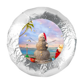 "Christmas 1.25"" Stickers - Tropical Snowman (48 Stickers)"