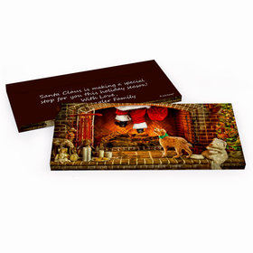 Deluxe Personalized Christmas Santa's Puppy Chocolate Bar in Gift Box