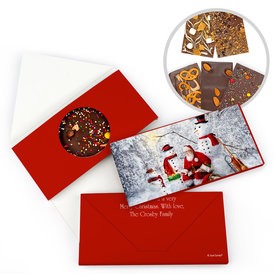 Personalized Santa's Gifts Christmas Gourmet Infused Belgian Chocolate Bars (3.5oz)