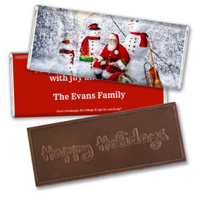 Personalized Embossed Chocolate Bar - Christmas Santa's Gifts