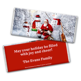 Personalized Chocolate Bar Wrappers Only - Christmas Santa's Gifts