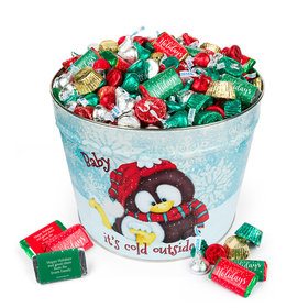 Personalized Baby It's Cold Outside 14 lb Hershey's Holiday Mix Tin