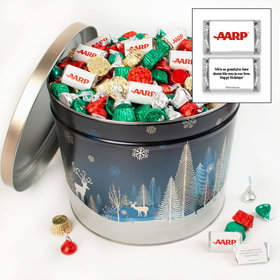 Personalized Crystal Evening 14lb Merry Christmas Assortment