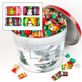 Snow Covered Mill 14 lb Hershey's Holiday Mix Tin