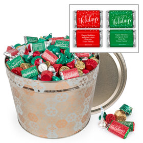 Personalized Shining Snowflakes 14lb Happy Holidays Assortment